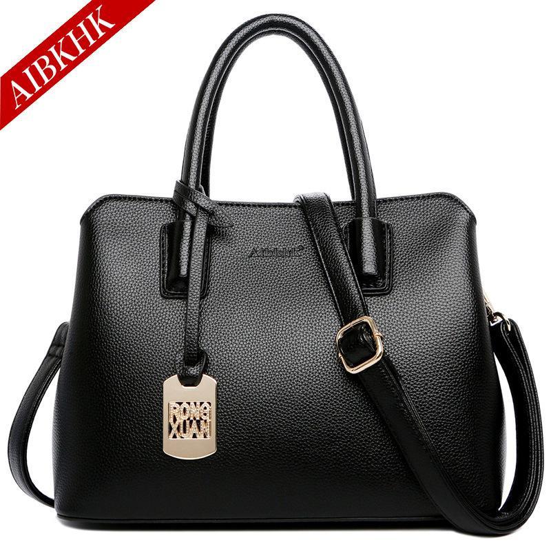 dd9ca84dd4 AIBKHK 2018 NEW Women GENUINE LEATHER Shoulder Bag 100% Cowhide Crossbody Bags  Real COW Skin Fold Over Handbag Girl Fashion Bags Cheap Designer Bags Mens  ...