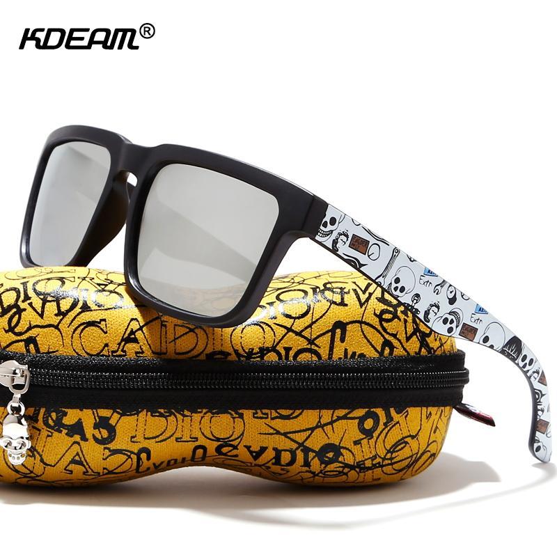bba94e555f494 Compre KDEAM Atraente Função Óculos Polarizados Para Homens Matte Black  Frame Fit. Templos De Pintura Play Cool Sun Glasses With Case De Zeipt