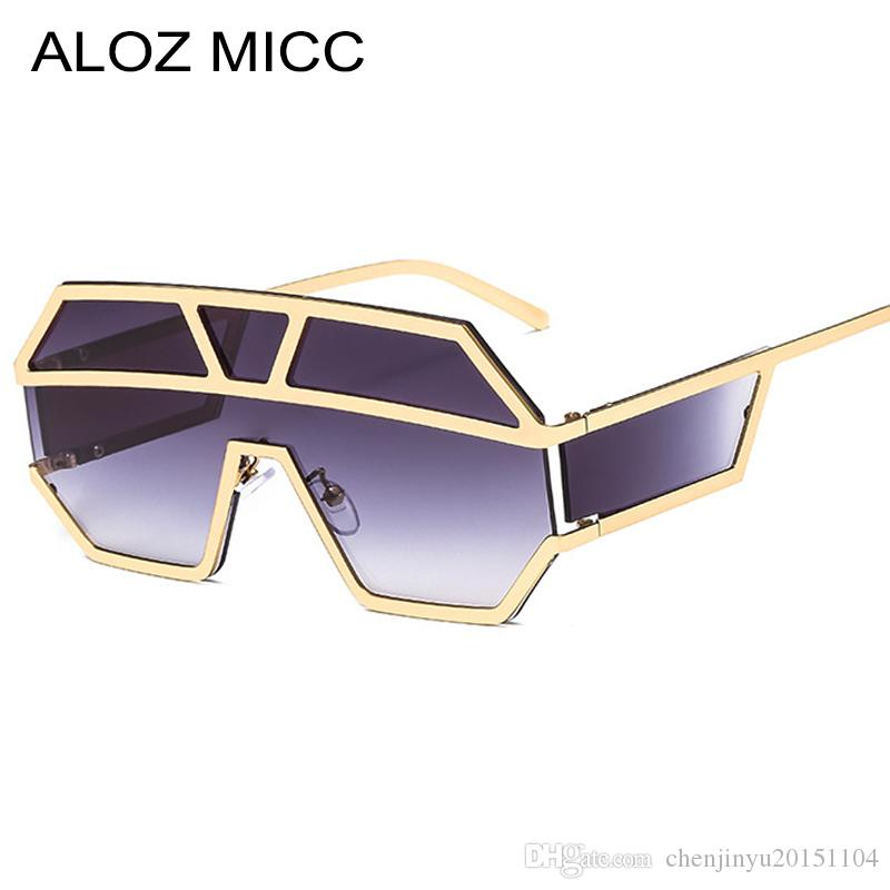 ea3a7fd0d5 ALOZ MICC New One Piece Lens Sunglasses Women Oversized Square Sun Glasses  2019 Brand Designer Men Sun Glasses Shades UV400 A641 Sunglasses Shop Bolle  ...