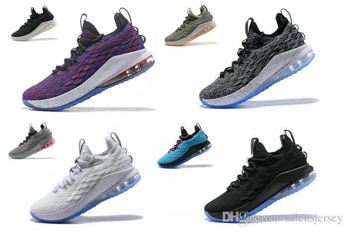 Acheter 2018 Lebron XV Low EP 15 Supernova Multi Color James Homme   Femme    Enfant Chaussures De Basket LB XV Low Ashes Oreo Noir   Blanc Sneakers De  ... 8372443a5