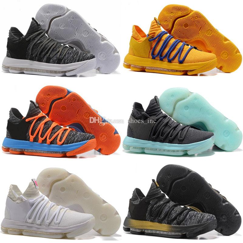 outlet store d0fde 591ae 2019 2018 Zoom KD 10 Anniversary PE BHM Red Oreo Triple Black Men  Basketball Shoes KD 10 Elite Low Kevin Durant Athletic Sport Sneakers From  Shoes inc, ...