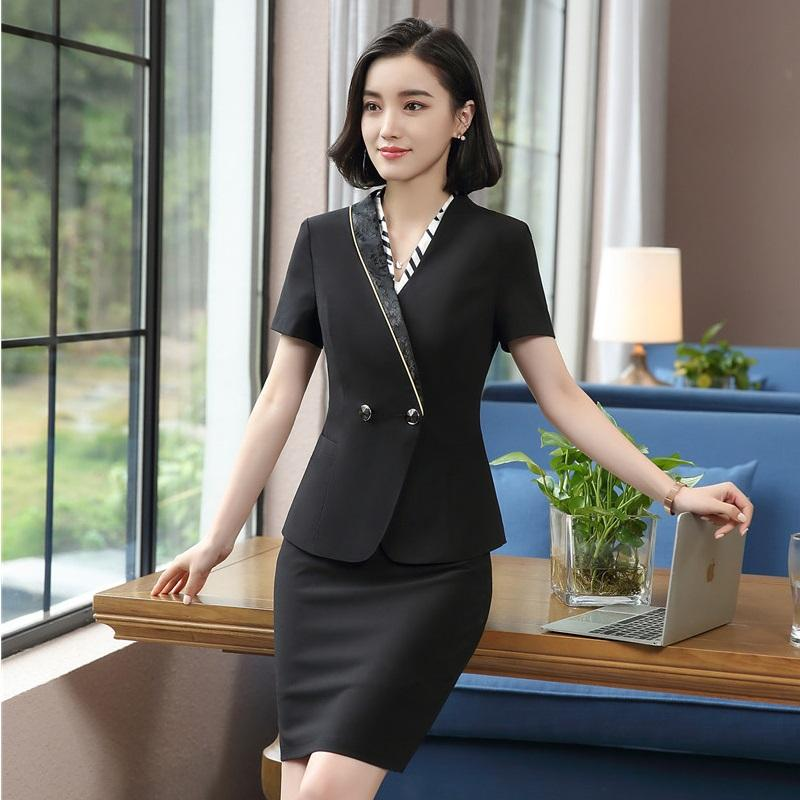 c82dd3f5a22d 2019 Summer Fashion Tops And Skirt Uniform Styles Professional Blazers For  Ladies Office Career Interview Job Work Wear Sets From Yakima