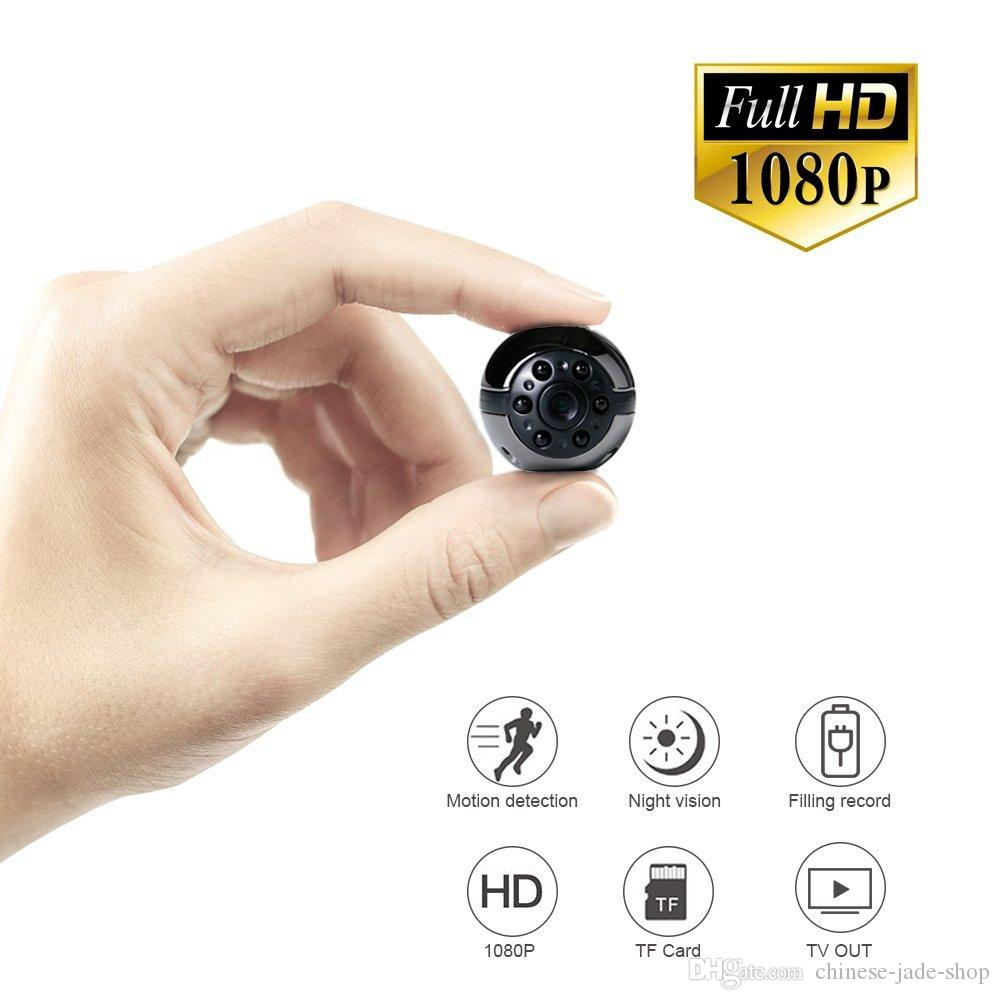 SQ9 Mini Kamera 1080 P HD Video Kaydedici Kızılötesi Gece Hareket Algılama Mikro Kamera 360 Derece Dönme Dijital Kamera 1 adet / grup