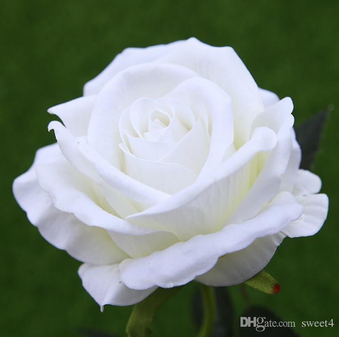 / de la decoración de Rose flores artificiales flores de seda de flores de látex tacto verdadero Rose ramo de la boda del partido Inicio Diseño Flores