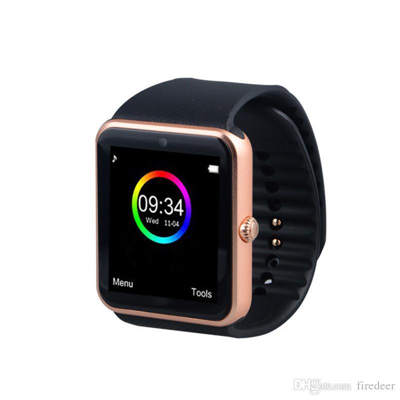 Умные Часы Топ GT08 Смарт Часы С Сенсорным Экраном Большой Аккумулятор  Поддержка TF Sim Карты Камеры Для IOS IPhone Android Телефон Купить Умные  Часы В ... 8a87dc02e8562