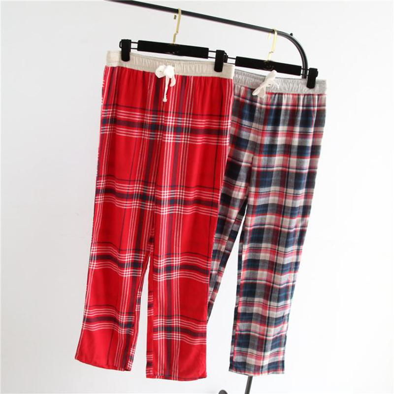 ebd0c6da7b3 2019 Fashion Plaid 100% Cotton Sleep Bottoms Women Winter Plus Size Soft  Warm Home Lounge Pants For Women Trousers Casual Sleep Pants From Hoto