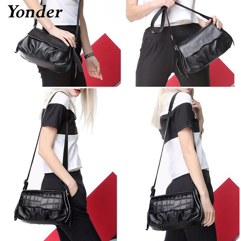 Yonder New Women Messenger Bags Genuine Leather Crossbody Bag Ladies  Designer Handbags Female Crocodile Print Shoulder Bag Purse Shoulder Bags  Cheap ... b19e29984d9ae