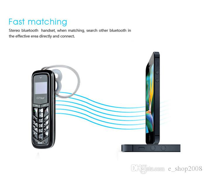 GTSTAR BM50 Wireless bluetooth headset dialer stereo mini headphone pocket phone support sim card and dial call Free DHL