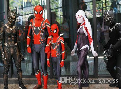 Costumi per bambini Spiderman Homecoming Costume Cosplay Zentai Iron Spider Man Supereroe Tute Suit Tute per bambini