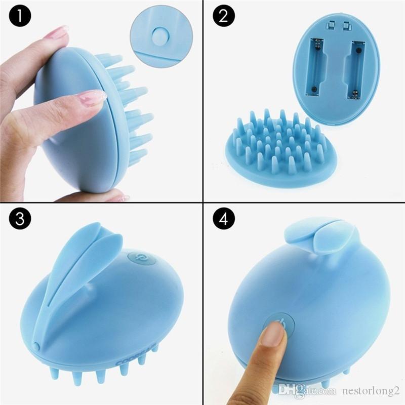 Pettine elettrico, pettinatura vibrante del pettine del silicone del massaggiatore del pettine del silicone del pettine vibrante del bagno il bagno