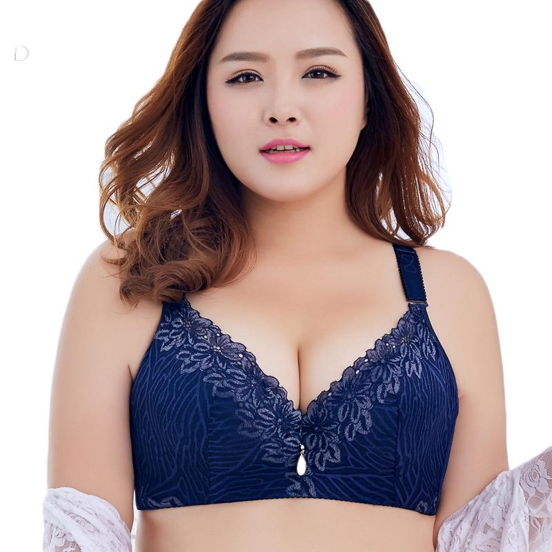 535869f834 2019 Plus Size Bras For Women Push Up Large Cup Bra Ladies Bralette ...