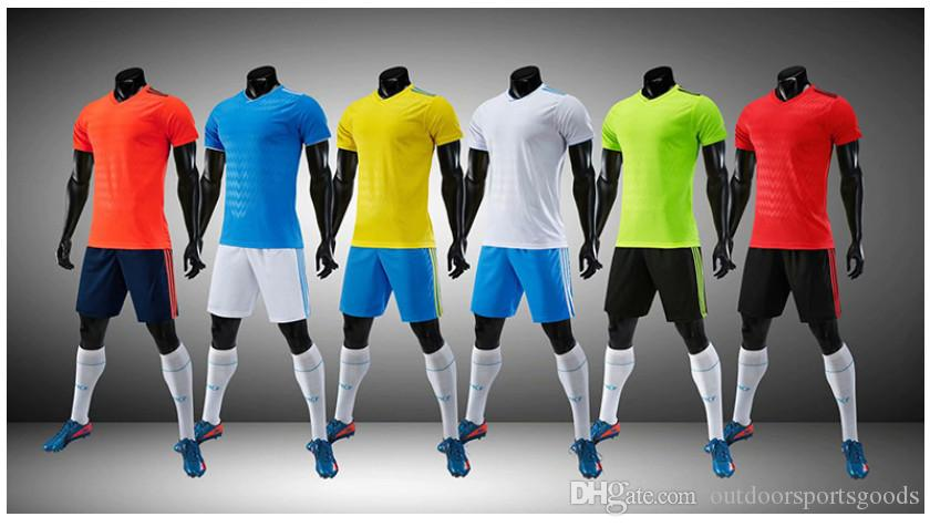 New Custom-designed uniforms adult children's soccer suit kit personalized printed jerseys short sleeves shorts soccer practice team