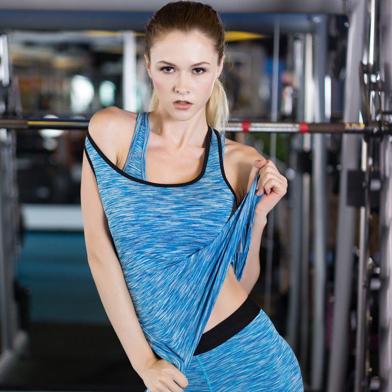 c0720dc5580 LoRun Sexy Yoga Tops Women Sports Clothing Tights Sleeveless Gym Shirt  Quick Dry Blouse Fitness Running Women s Sportswear Vests