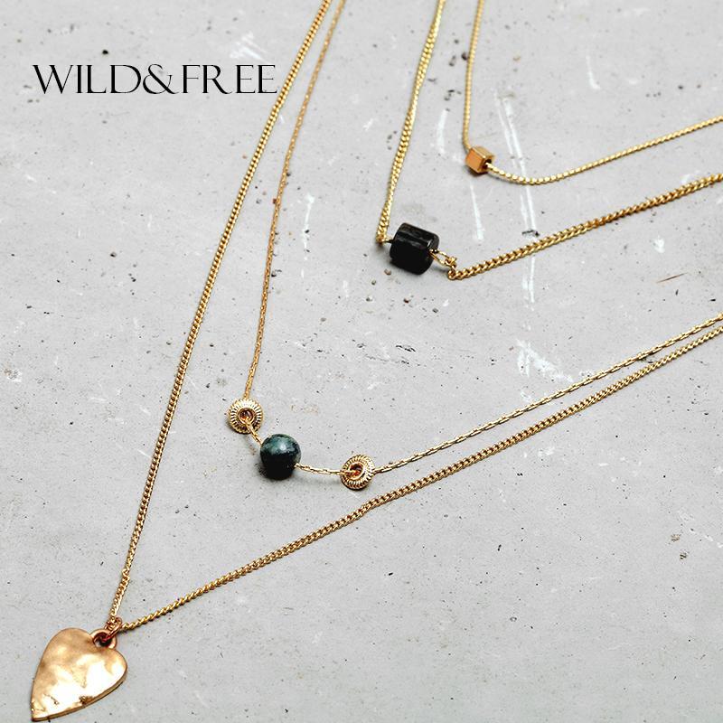 6e7fdf933171 Compre 2016 Recién Llegado De Las Mujeres De Moda 4 Capas De Oro Cadenas  Charm Necklace Heart Natural Bead Collar Colgante Collar Diseños Joyería A   37.45 ...