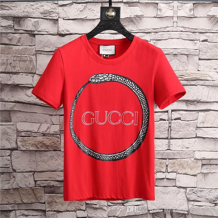 31cbd45b840 Snake Print T Shirts Mens Designer Tee Shirts Cotton Tops Fashion ...