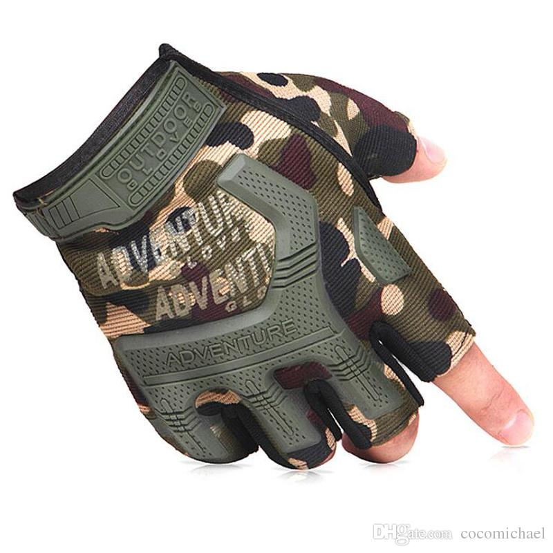 Army Military Tactical Fingeless Gloves Premium Breathable General Multicam Camouflage Tactical Outdoor Bicycle Airsoft Shooting Gear Gloves