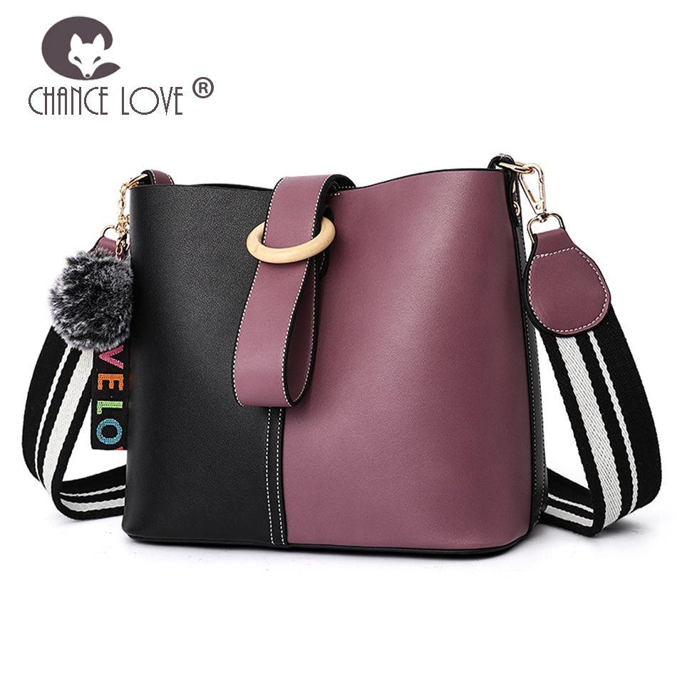 Chance Love Women s Bag 2018 New Fashion Contrast Color Shoulder Bag ... ee96315d50171