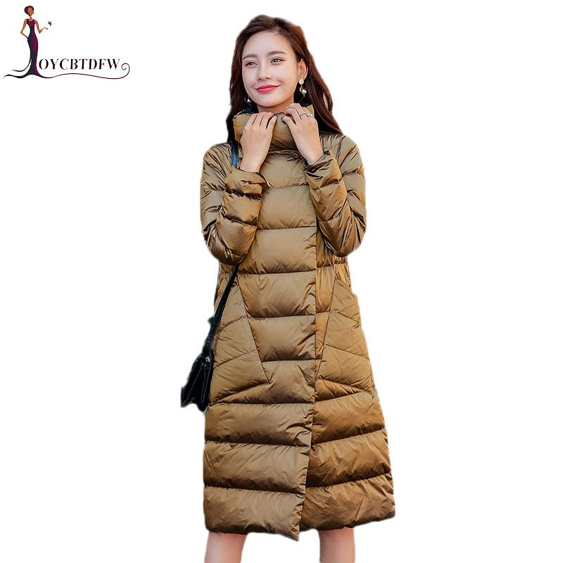 f3bac8ac0 Winter Women Light Down Jacket Double-Sided Wear Medium Long Coat 2018 New  Slim White Duck Down Large Size Lady Outerwear DD0761