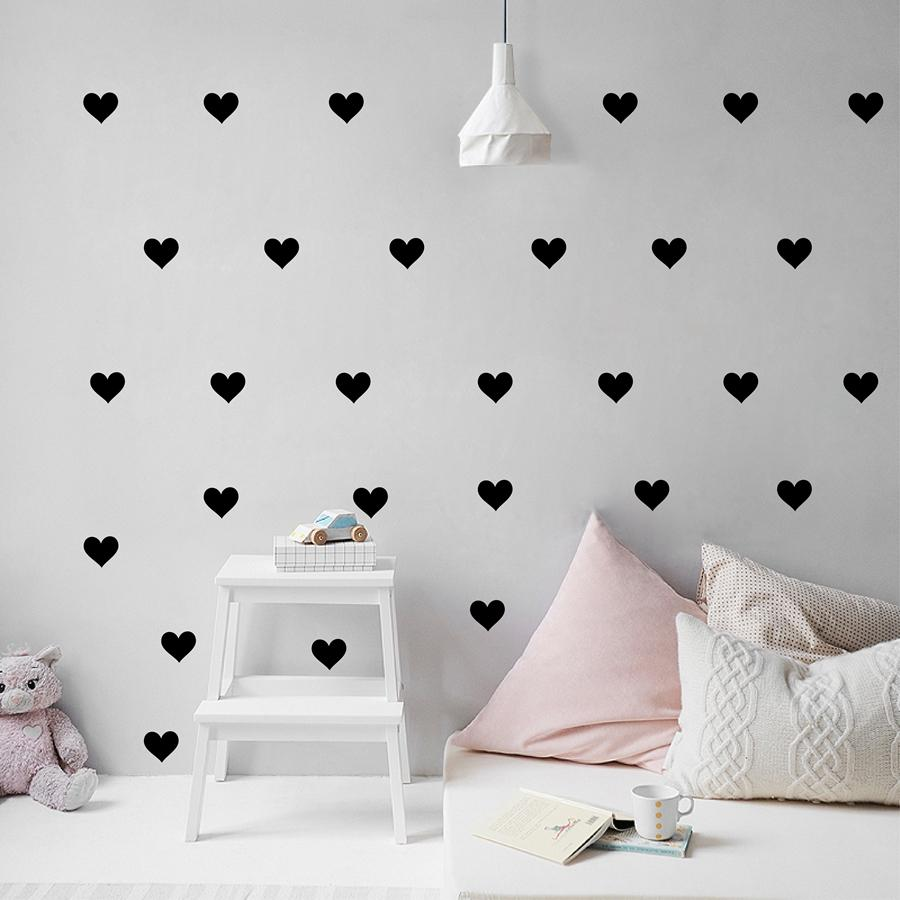 Removable wallpaper little hearts wall stickers wall decals for living room baby girl room bedroom home wall decoration wall decals large wall decals murals