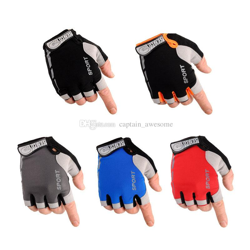 NEW Bicycle Half Finger Summer Gloves Breathable Slip Glove Size M-XL A Pair Multi color for choose