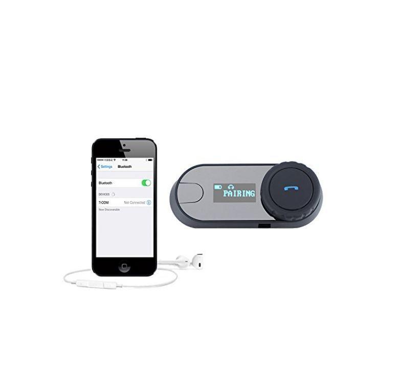 Aktualisiert BT Bluetooth Motorrad Motorrad Helm Intercom Interphone Headset mit LCD-Bildschirm + FM-Radio für iPhone Samsung