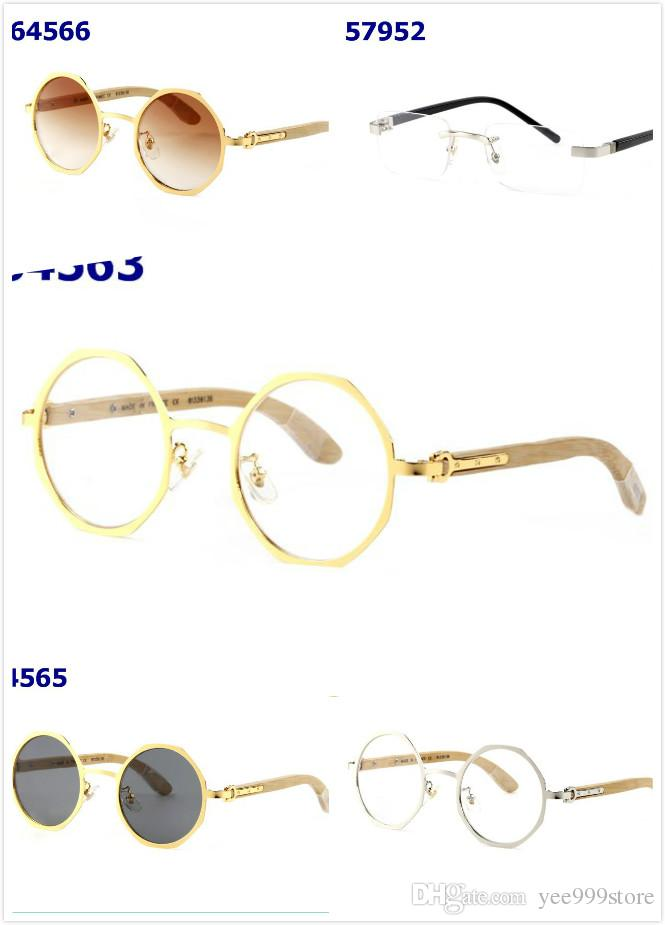 822871f289445 18k Real Wooden Metal Brand Sunglasses Gold Luxury Frames W7PqawCE