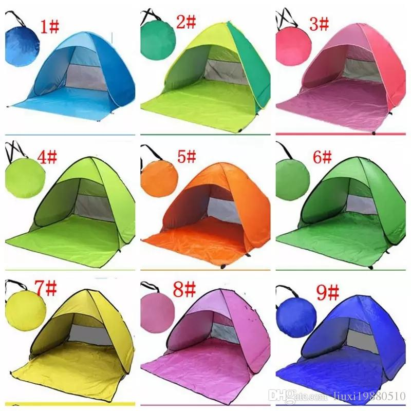 Automatic Open Tent Instant Portable Beach Tent Shelter Hiking Camping Anti-UV Family Camping Tents For 2-3 Person KKA1884