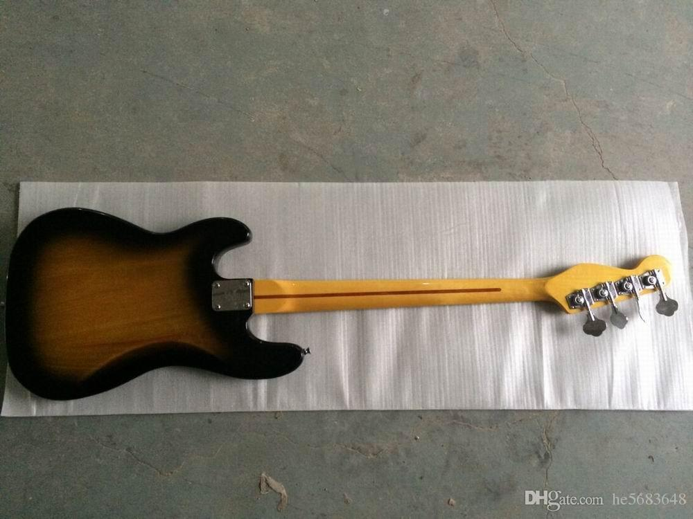 Wholesale New Arrival Custom Standard 4 strings Electric bass Guitar In vintage Sunset . classic musical instrument.140815