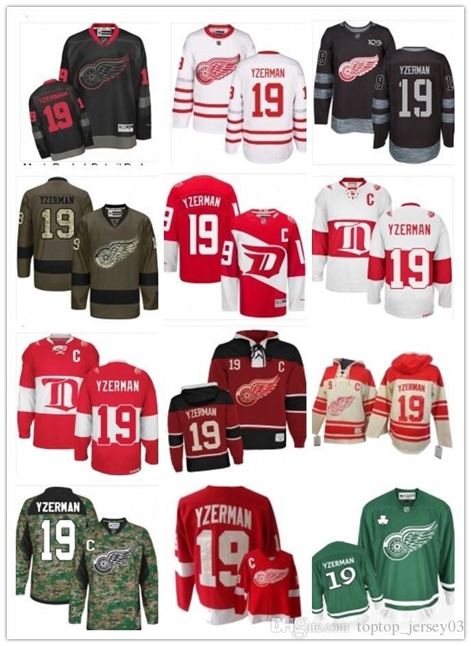 2018 Detroit Red Wings Jersey  19 Steve Yzerman Jersey Men  WOMEN ... f998d565e