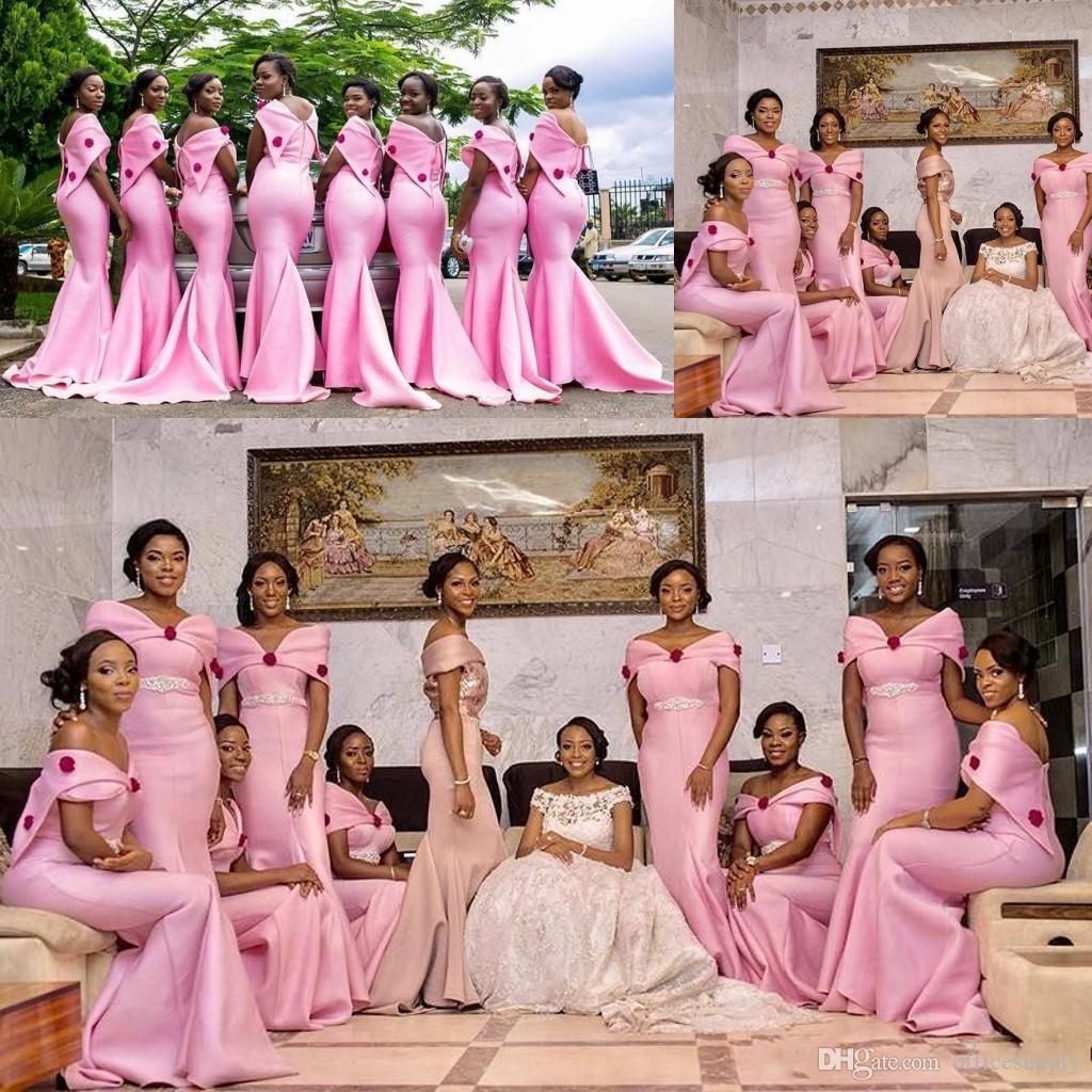 Elegant Pink Bridesmaid Dress Long Robes De Demoiselle D\'Honneur ...