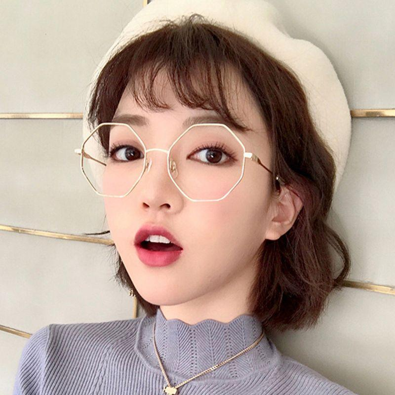 61f88f9d2bca 2019 Fashion Optical Glasses Geometric Myopia Frame Clear Lens Spectacle  Eyeglasses From Amsunshine