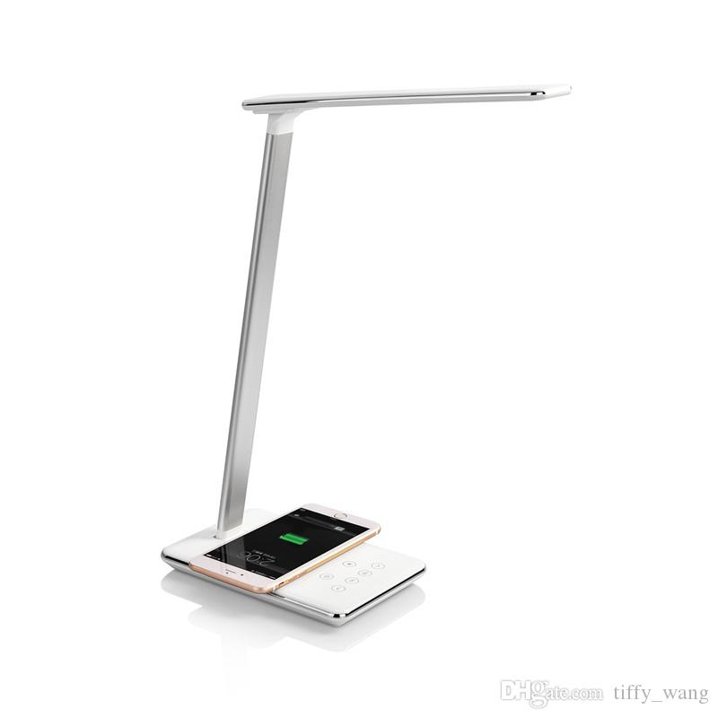 Qi Wireless Charging Coil Led Desk Table Lamps Brightness