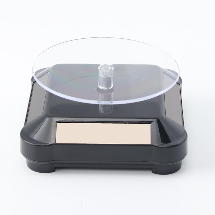 Solar Showcase 360 Turntable Rotating Jewelry Watch Ring Phone Stand Display Jewelry Organizer Hard Display Stand