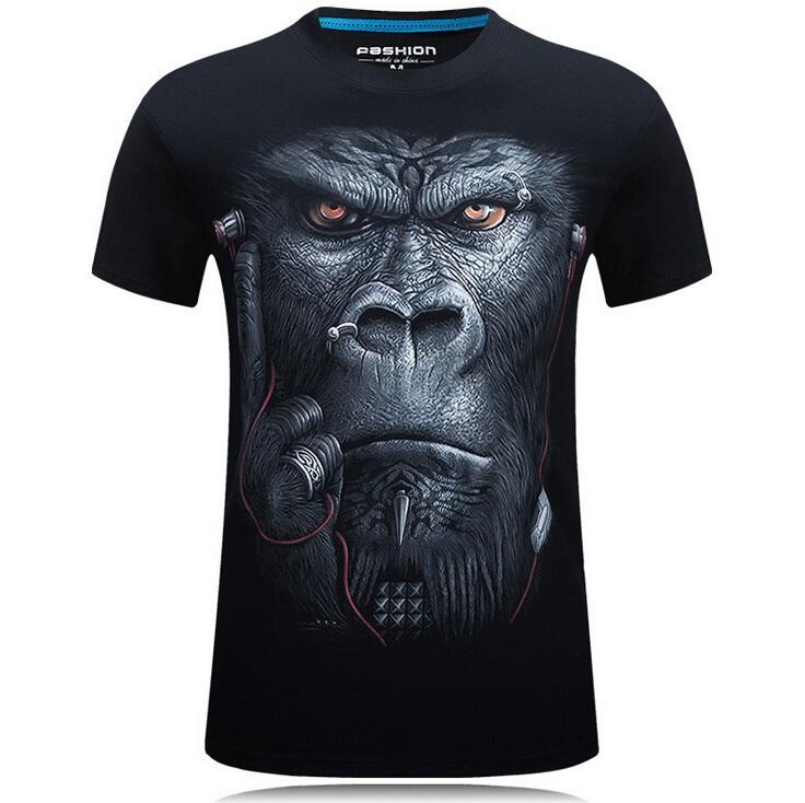 54d2f2e89e7a 20 Style S-6XL 3D T-shirt Mens Hot 2017 Summer Animal Snake Tiger Wolf Lion  Printed T-shirts Men Cotton Casual Brand T Shirt Brand Design T Shirt Cotton  ...