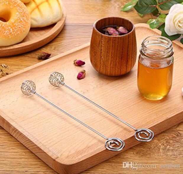 Paslanmaz Çelik Bal Kepçe Sopa, Kolayca Doldurun, Bal Spiral Dalgalı Benzersiz Spiral Shape
