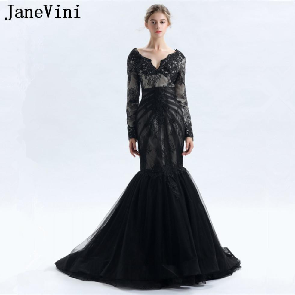 0b177b680b55d wholesale Vintage Mother of Bride Dress With Sleeves Mermaid Lace Appliques  Deep V Neck Tulle Sweep Train Formal Evening Gowns