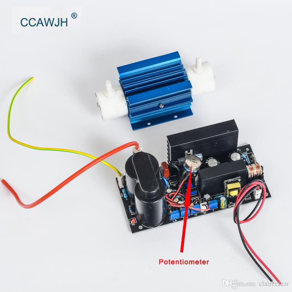 5G ozônio gerador de sílica tubo com potenciômetro para ajustar a saída de ozônio 1-5g para purificação de purificação de ar e água + FS