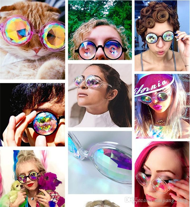 NEW Kaleidoscope Glasses Kaleidoscope music Festival glasses travel  Sunglasses Kaleidoscope Sunglasses Retro Rave game party for men women