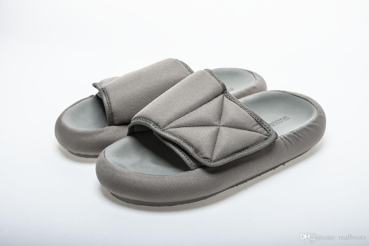 a43d048a2 Kanye West Season 6 Nylon Slides Men Women Memory Foam Slippers New In Box  Womens Sandals Walking Boots From Realboots, $85.43| DHgate.Com