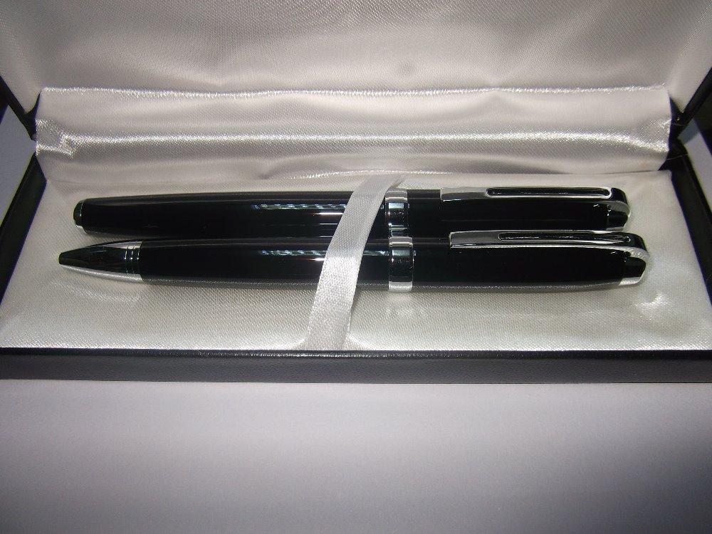 wholesale Metal ball Pen add roller pen Set,gift box, gift top quality type 22-9B+22-9R +free shipping