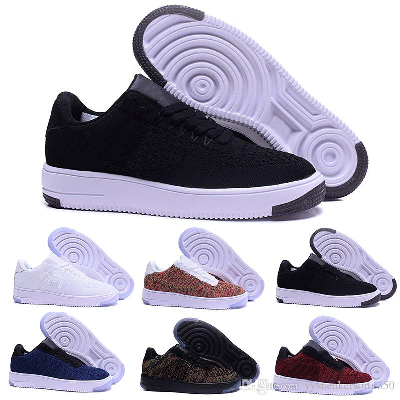 58ec5398f35 Acheter Nike Air Force 1 One Flyknit Mode Hommes Chaussures Low One 1  Hommes Femmes Chine Casual Shoe Fly Designer Royaums Type Breathe Skate  Tricot Femme ...