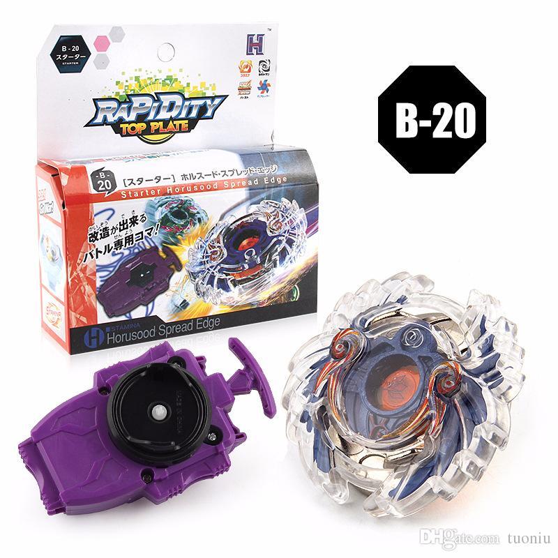 8 Stlyes Nueva tapa giratoria Beyblade BURST B-23 con lanzador y caja original Metal Plastic Fusion 4D Juguetes de regalo para niños