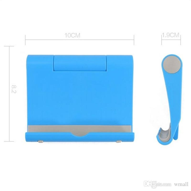 Desktop universal folding mobile phone stand holder Tablet PC mounts Portable Lazy stent Multicolor
