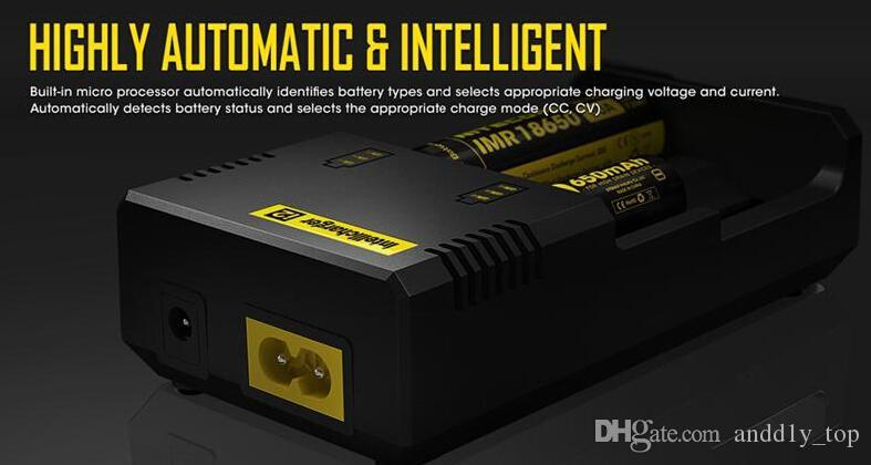Best Selling Nitecore I2 Universal Charger for 16340/18650/14500/26650 Battery US EU AU UK Plug 2 in 1 Intellicharger Battery Charger