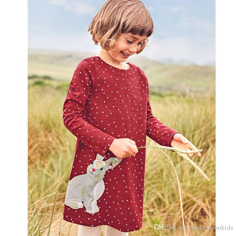 2019 Designer Kids Clothes Long Sleeve Princess Dress For Baby Girl Clothes  With Animals Appliques Unicorn Party Dress From Topfashionkids 6f08ae049