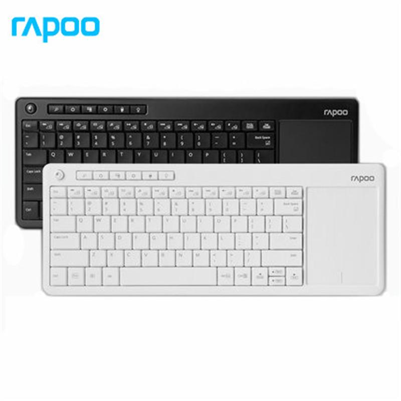 ce43898017c Rapoo K2600 2.4G Wireless Touch Keyboard Slim Keyboards With Big Touch Pad  Panel For Smart TV/Laptop/Computer/Tablet Bluetooth Keyboards Bluetooth  Wireless ...