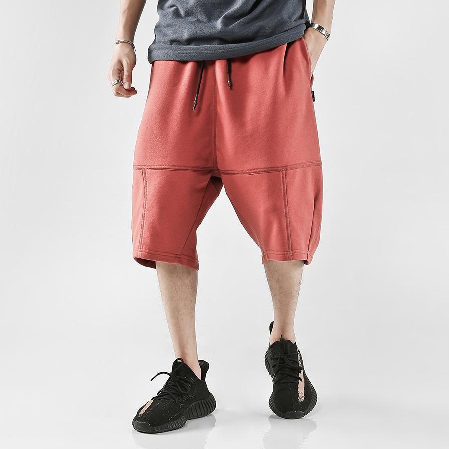 18ee10daeb611d 2019 Streetwear Long Shorts Men Summer Hip Hop Bermuda Masculina Harem  Pockets Baggy Shorts Men Cargo Sweatpants Streetwear 6D14 From  Clothing0005, ...