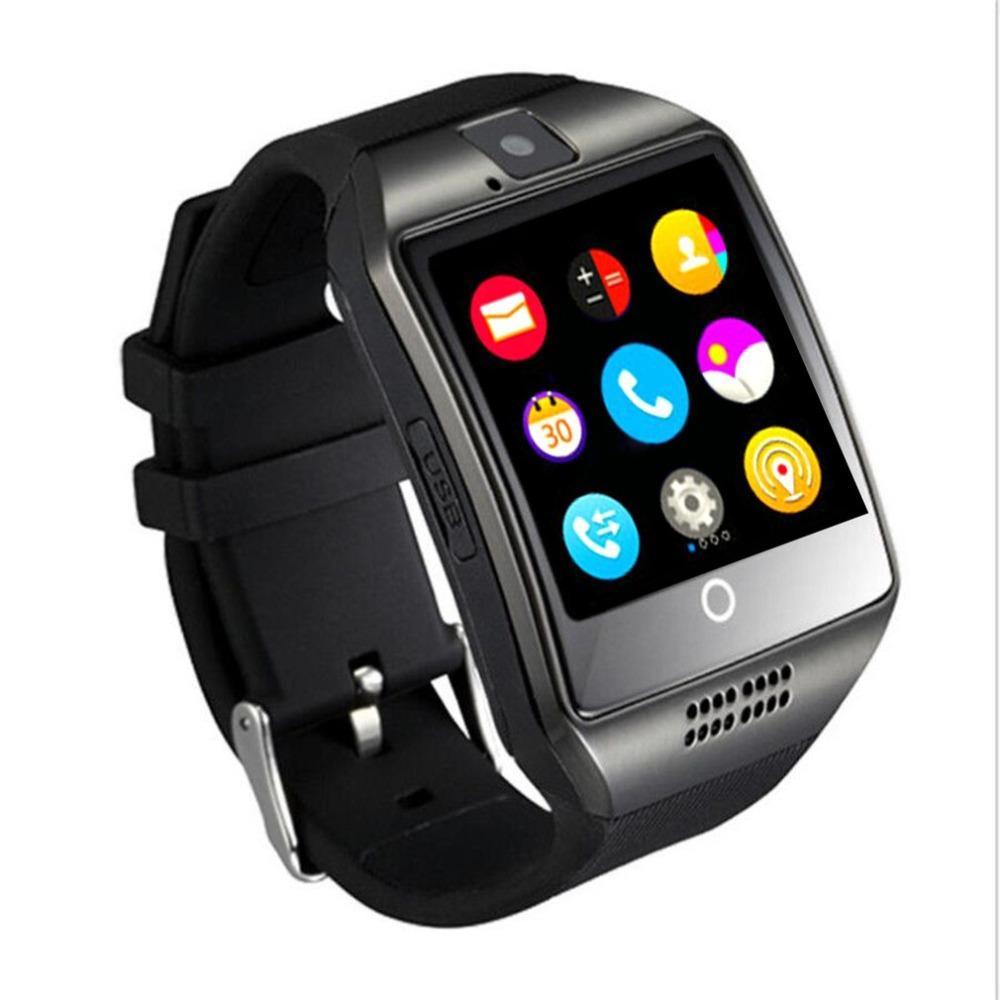 4a79ab4ffd7 Compre Q18 Relógio Inteligente Com Suporte De Câmera De Tela De Toque Tf  Cartão Bluetooth Smartwatch Para Android Ios Telefone De Nasturtium
