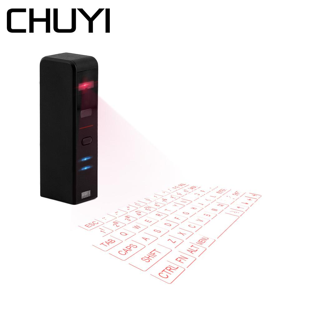 CHUYI Virtual Laser Projection Mini Keyboard Bluetooth Wireless Keypad For  Iphone Macbook Air PC Tablets Notebook Computer