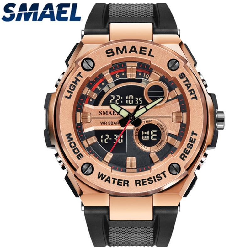 Herrenuhren Männer Uhren Luxusmarke Voller Stahl Quarzuhr Led Digitaluhr Männer Handgelenk Sportuhr Military Relogio Masculino Feminino Uhren